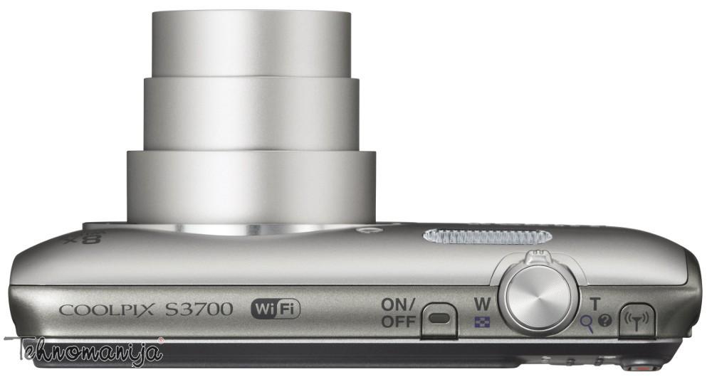 Nikon fotoaparat Coolpix S3700 SREBRNI SET