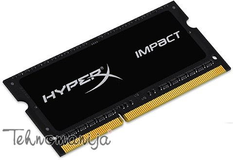 Kingston SODIMM DDR3 4GB 1600MHz HX316LS9IB/4 1.35V HyperX Impact Blac