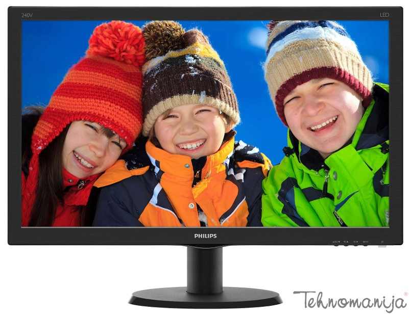"PHILIPS 24"" Monitor 23.8"" 240V5QDAB, LED, 1920 x 1080 Full H"