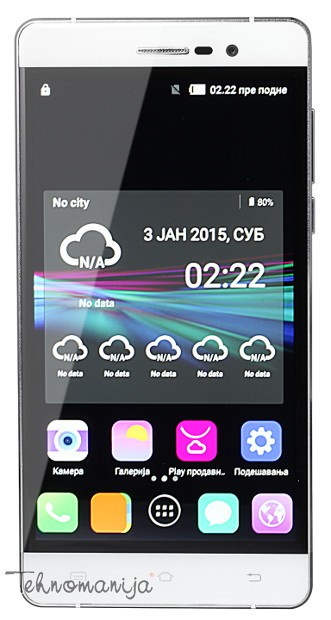 ALPHA Smart telefon PHELIX DS WHITE, 2 GB, 8 Mpix