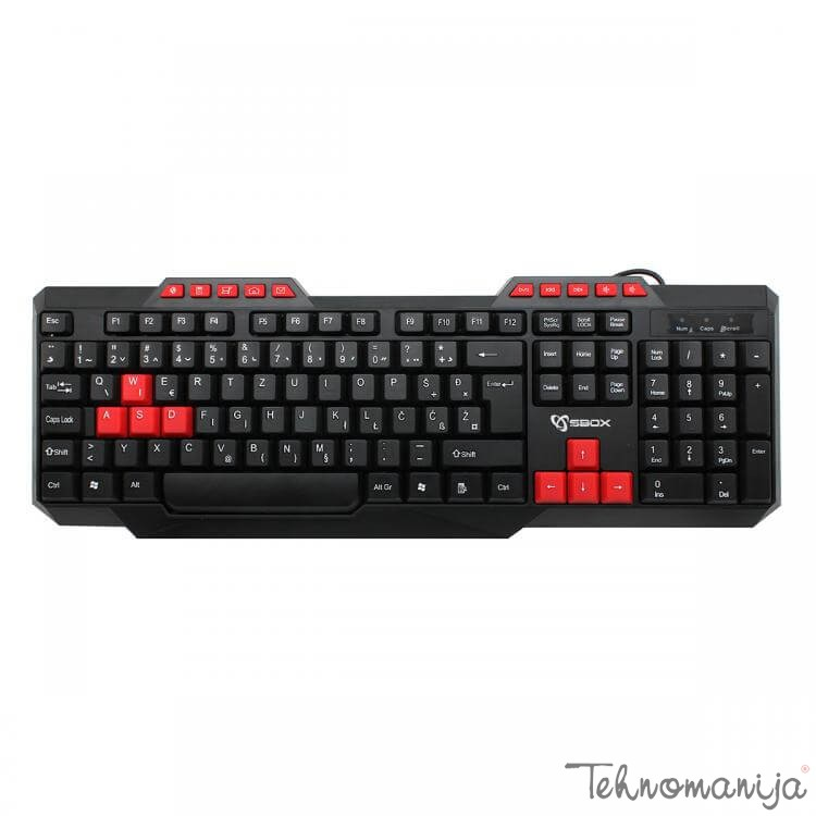 S box tastatura K 15 BLACK RED