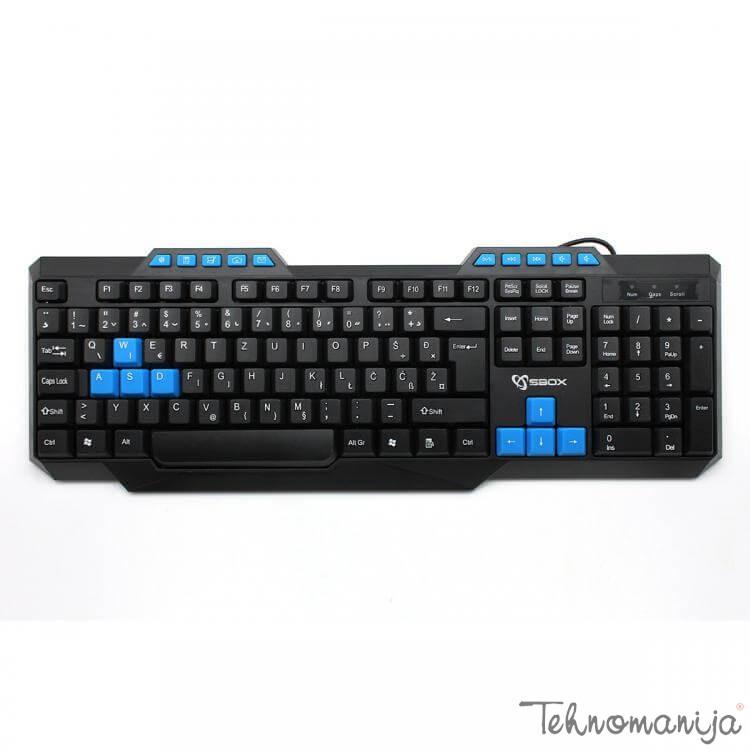 S box tastatura K 15 BLACK BLUE