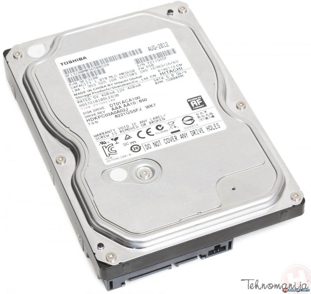 TOSHIBA Hard disk TSH DT01ACA100