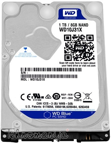 WESTERN DIGITAL Hard disc WD10J31X