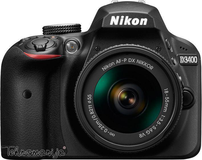 NIKON foto aparat D3400 CRNSET 1855VR