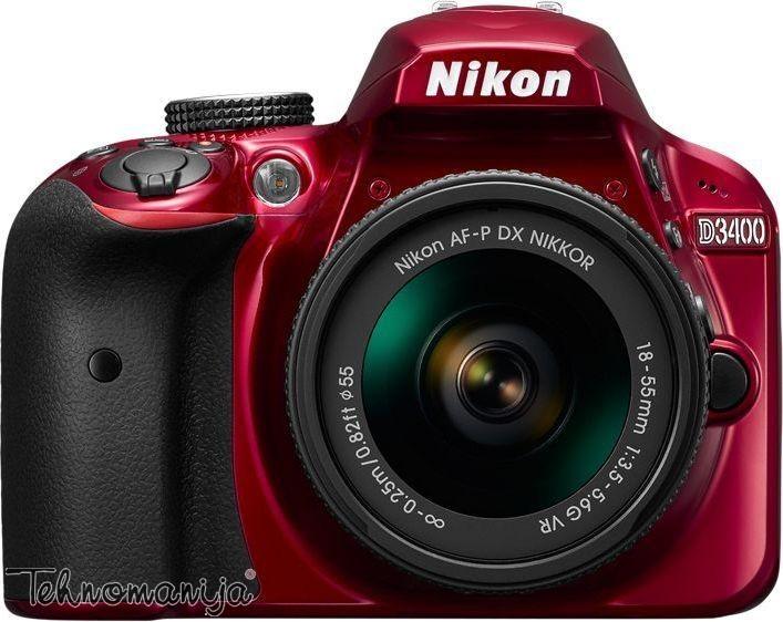 NIKON foto aparat D3400 CRVSET 1855VR