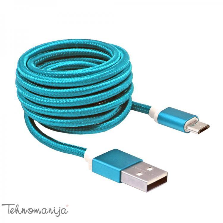 S BOX Kabl USB A MICRO B 1 5 BL