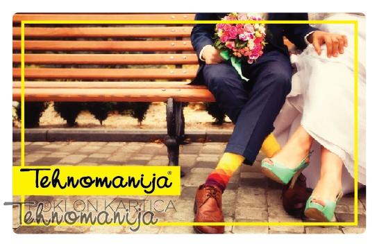 Tehnomanija poklon kartica za venčanje i mladence