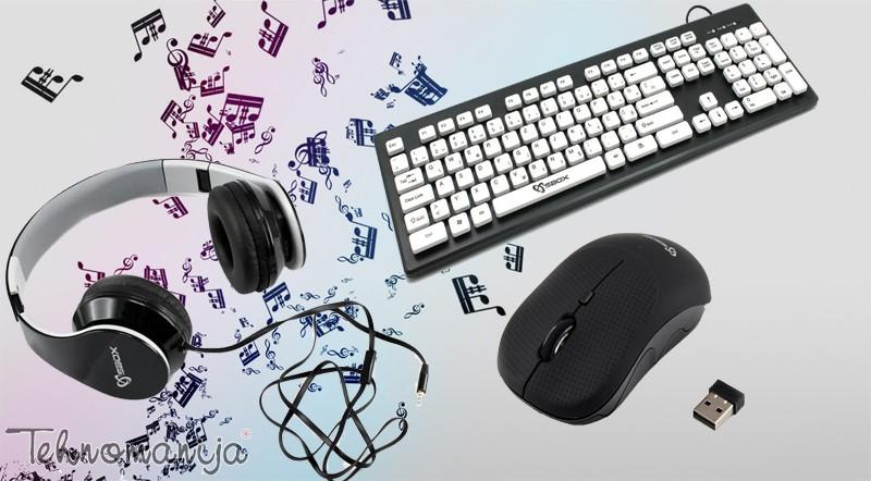 S BOX Set Audio Crni Tastatura + Slušalice + Miš